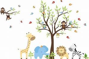Baby Safari Animals Clip Art | Car Interior Design