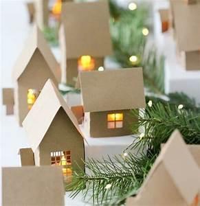Maison De Noel Miniature : d coration de no l fabriquer soi m me 87 id es diy faciles r aliser ~ Nature-et-papiers.com Idées de Décoration