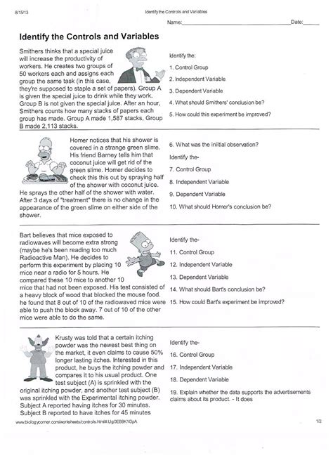 scientific method story worksheet answer key scientific method worksheets pdf science pinterest