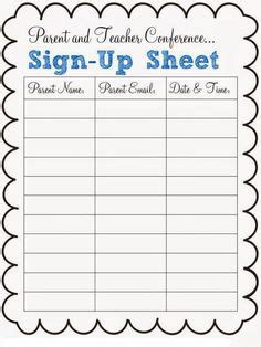 potluck sign  sheet template  excel
