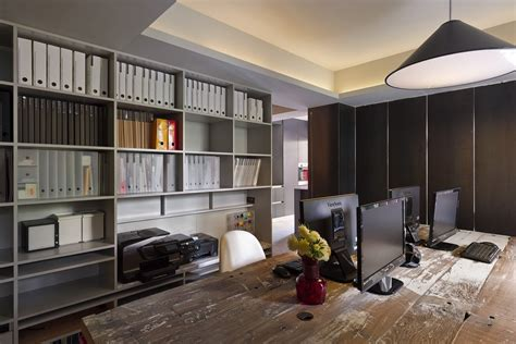Sophisticated Office Spaces by Brilliant Taipei Apartment Doubles Up As A Sophisticated