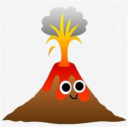 Volcano Eruption Cartoon Drawing Clipart Volcanic Getdrawings