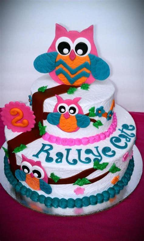 owl cake    birthday butter cream  fondant
