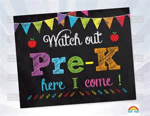 Printable First Day of Pre-K Sign