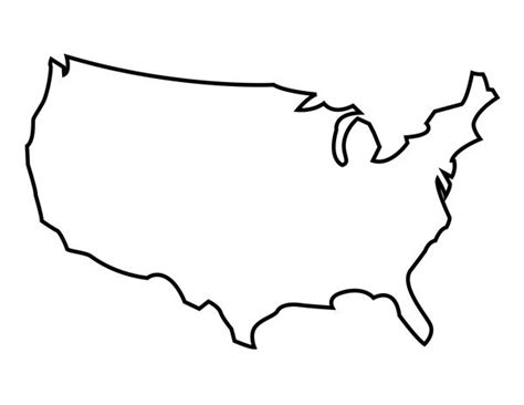 blank map   united states map outline united