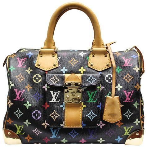 louis vuitton murakami speedy  black multicolor handbag  box  sale  stdibs