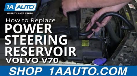 replace power steering reservoir   volvo