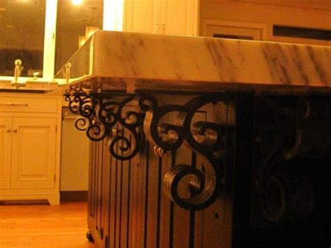 Wooden Corbels For Granite Countertops by Why Wrought Iron Corbels Are More Practical Than Wood