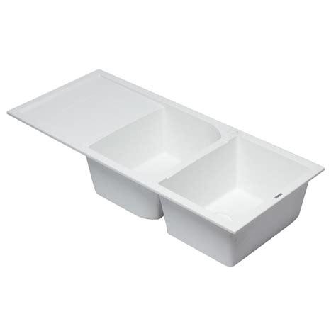 kitchen sink brand alfi brand drop in granite composite 45 75 in 50 50 2593