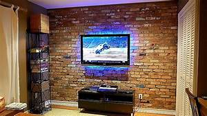 How, To, Build, An, Exposed, Brick, Veneer, On, An, Interior, Wall