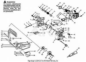 Poulan Pp180c Gas Saw  180c Gas Saw Parts Diagram For