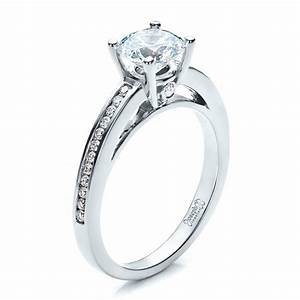women39s channel set engagement ring 1473 With wedding engagement rings for women