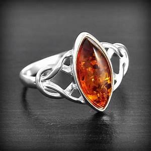 bague celtique ambre argent excalibur bijoux With ambre bijoux