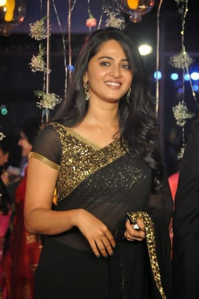 Bollywood Style Anushka Shetty Georgette Saree In Black Color