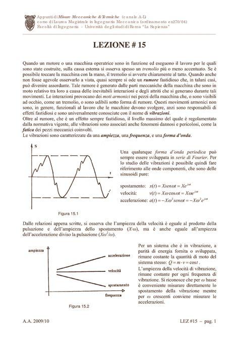 Vibrazioni Meccaniche Dispense by Misure Delle Vibrazioni Dispense
