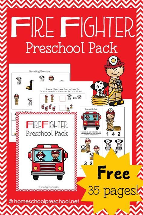 firefighter preschool pack  homeschool deals
