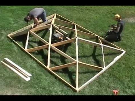 How To Make A Hip Roof by World S Fastest Wooden Hip Roof Wmv