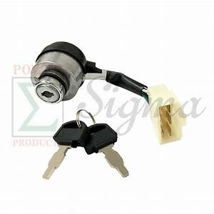 Gas Generator 6 Wire 3 Way Ignition Key Switch For Honda