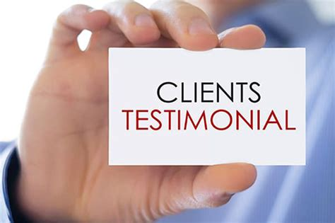 Testimonials From Customers