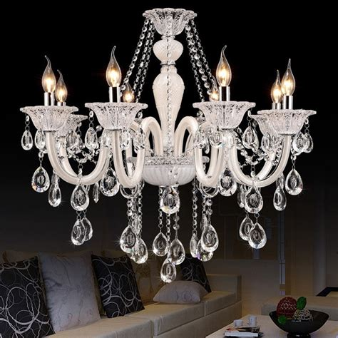 White Modern Chandelier by White Chandelier European Model Luxury