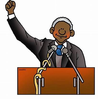 Mandela Nelson Clipart Abolitionist Clip History Leader