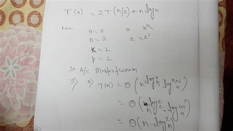 algorithms how to solve this recurrence t n 2t n 2 n log n mathematics stack exchange