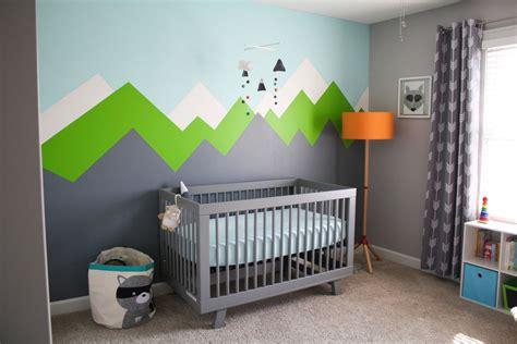 woodland nursery trend diy mountain murals