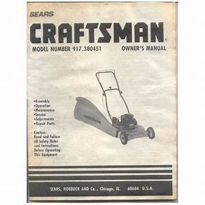 Original 1989 Sears Craftsman Owner U2019s Manual Lawn Mower