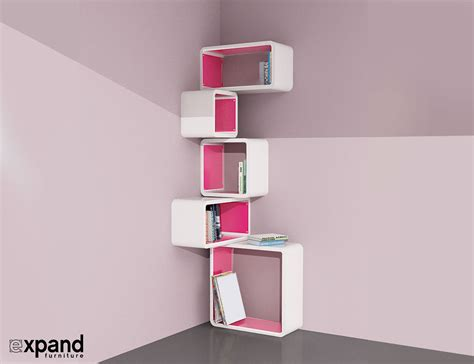 modular corner cube shelf  expand furniture
