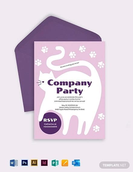 party invitation templates word  psd