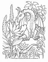 Coloring Dragon Detailed Popular Patterns sketch template