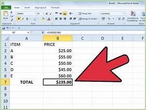 Summe Einer Reihe Berechnen : werte in einer excel tabelle addieren wikihow ~ Themetempest.com Abrechnung