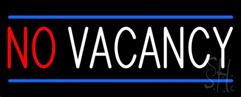 No Vacancy Animated Neon Sign