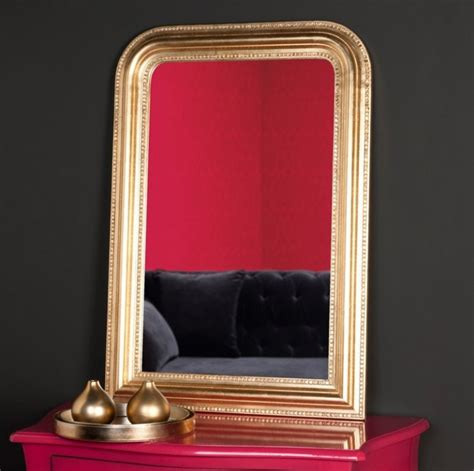 bureau arrondi miroir doré rectangulaire avec cadre arrondi photo 20 20