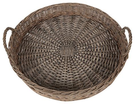 """20"""" Round Willow Tray   Farmhouse   Serving Trays   by KAF"""