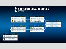 Mundial Clubes 2016 América o el campeón de Asia, primer