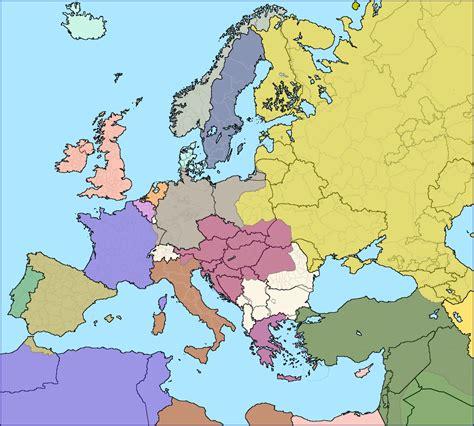modern european borders superimposed  europe