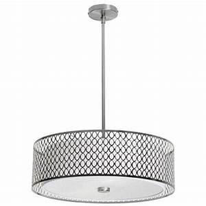 Glass drum pendant light bellacor