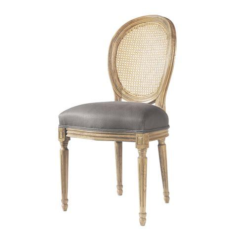 chaise louis maison du monde chaise médaillon en et chêne massif taupe louis