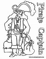 Coloring Pages Pirates Popular Pirate sketch template