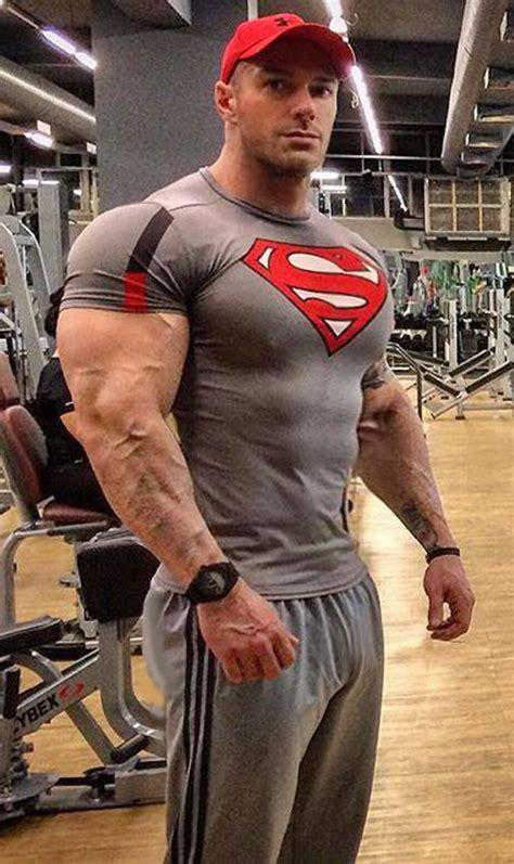 muscle tight superman hunks shirt builtbytallsteve fitness built bodybuilding tallsteve deviantart body almost power bodybuilder muscles muscular stonepiler guys boy