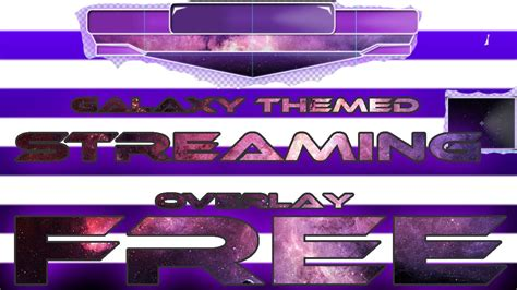 twitch overlay template girls galaxy purple streaming overlay template free youtube