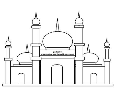 52 koleksi spesial gambar masjid untuk mewarnai tk