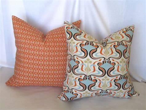 Pair Of Burnt Orange And Cream Decorative Throw Pillow Cedar Colored Exterior Paint Asian Paints Interior Colours Dark Grey Wood How To Faux Marble Wall Historic Colors Mobile Home Painting Texturing Spanish Style