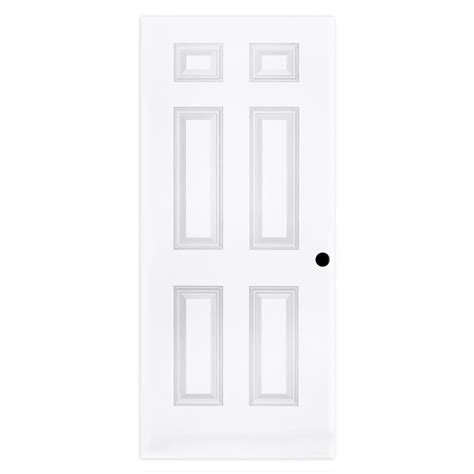 steves sons       panel textured hollow core primed white pre bored composite