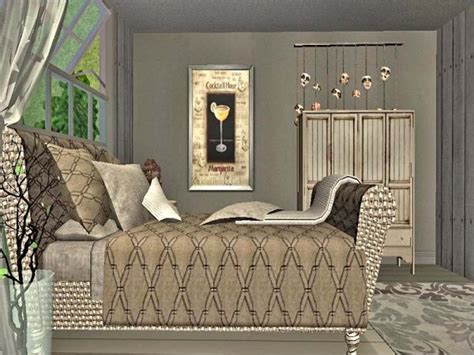 chesterfield inspired bed recolors lady  sims  designs