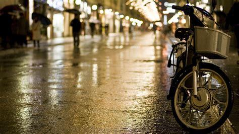Best Desktop Wallpaper Of Night City Rain Image Of Bike