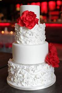 Red, white and silver - My wedding ideas | Wedding Cake ...