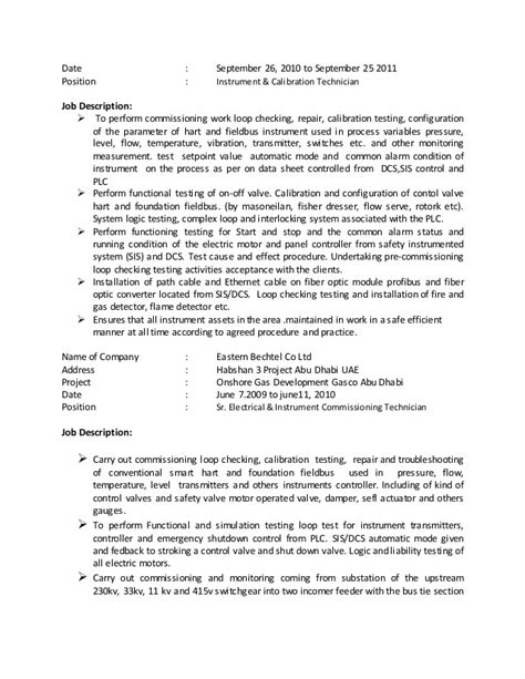 Electrical Testing Commissioning Engineer Resume by Noel Cv