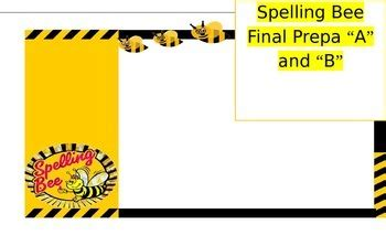 spelling bee invitation  parents  karla childs tpt